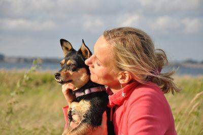 Millie mit Hund